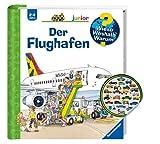 Buchspielbox Wieso? Weshalb? Warum? junior: Der Flughafen (Band 3) + Kinder-Fahrzeug-Sticker   ab 2 Jahren
