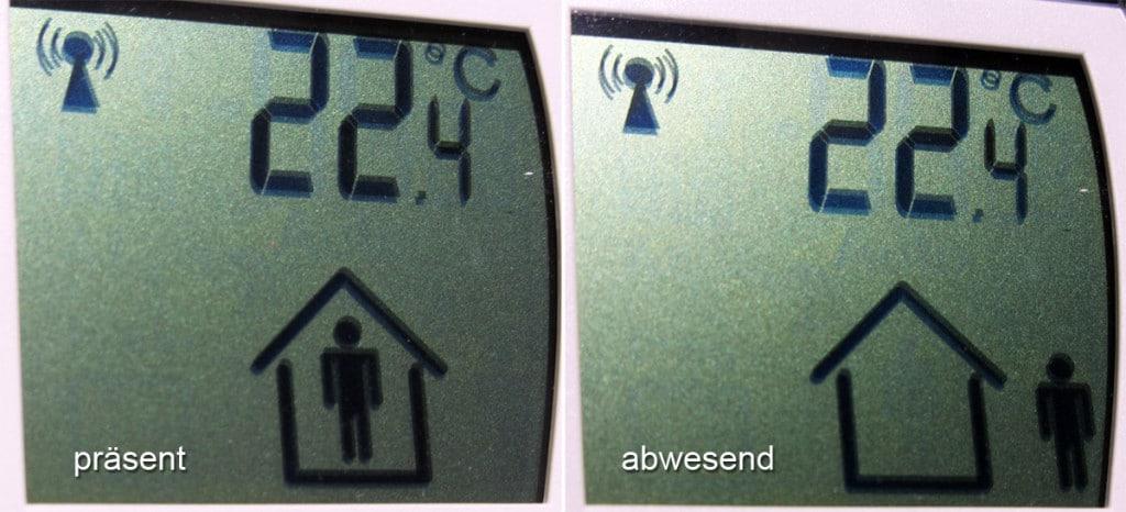 En:Key - Statusanzeige: präsent und abwesend