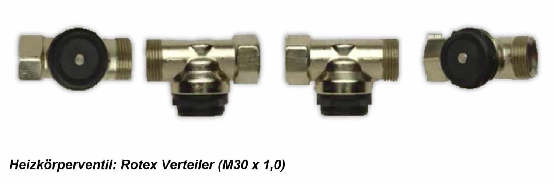 Heizkörperventil Rotex M30 x 1,0