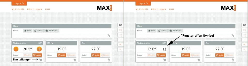 MAX! Software - Einrichtung - Übersicht