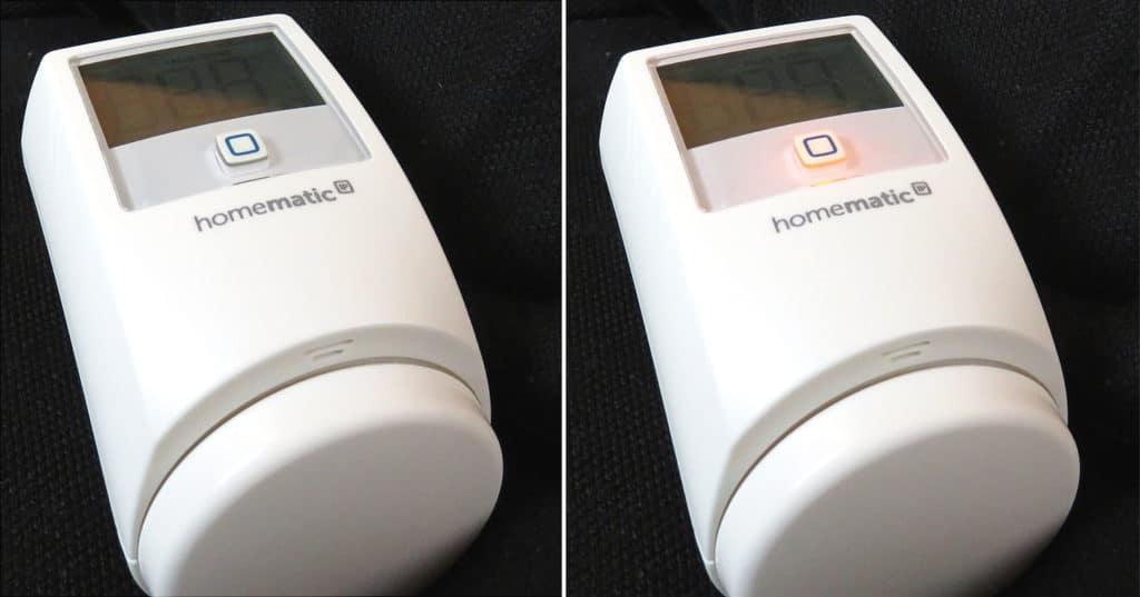 HomeMatic IP - Heizkörperthermostat Systemtaste mit LED
