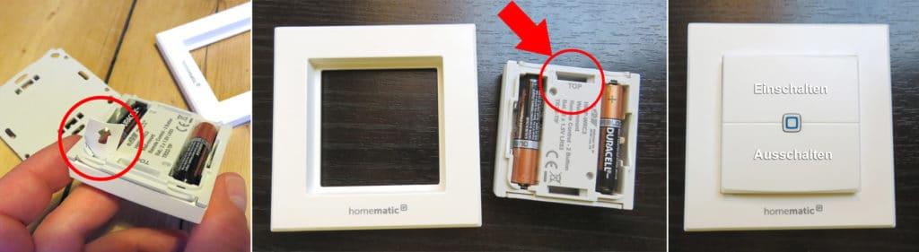 Homematic IP - Installation Wandtaster