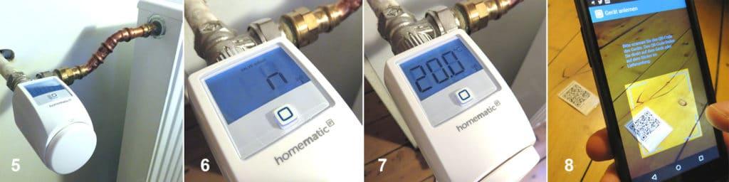 Installation der Homematic IP Heizkörperregler