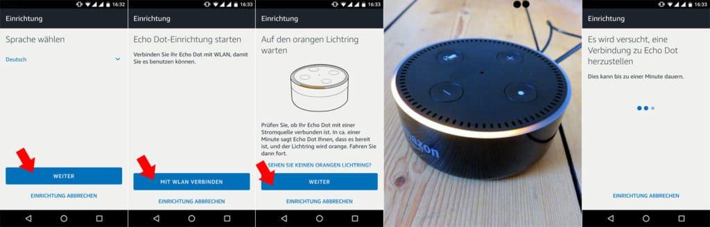 Echo Dot mit Alexa verbinden