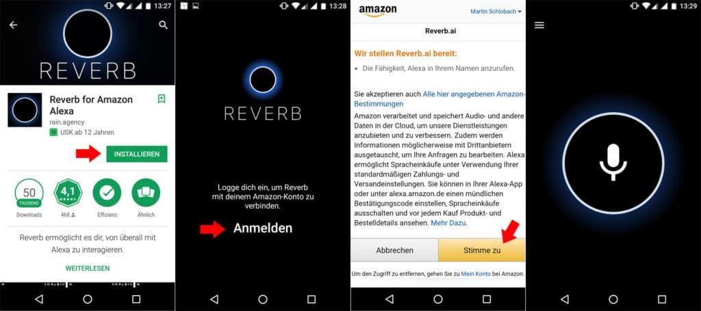 Installation Alexa Reverb App