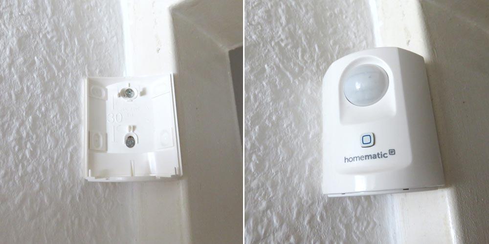 Installation Homematic IP Bewegungsmelder