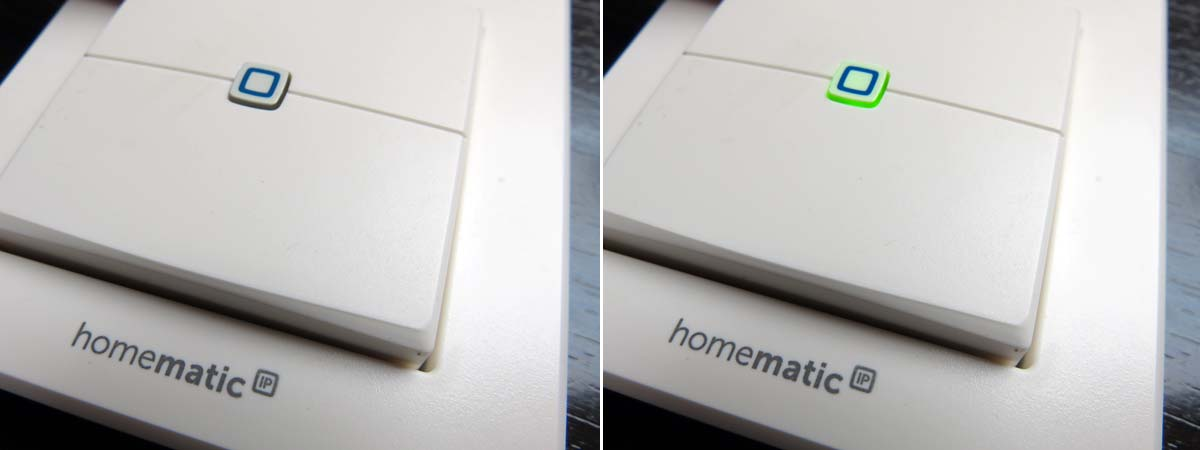 HomeMatic IP - Wandtaster 2-Fach - Systemtaste mit LED