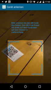 HomematicIP-App-Schalt-Mess-Steckdose-QR-Code-einscannen