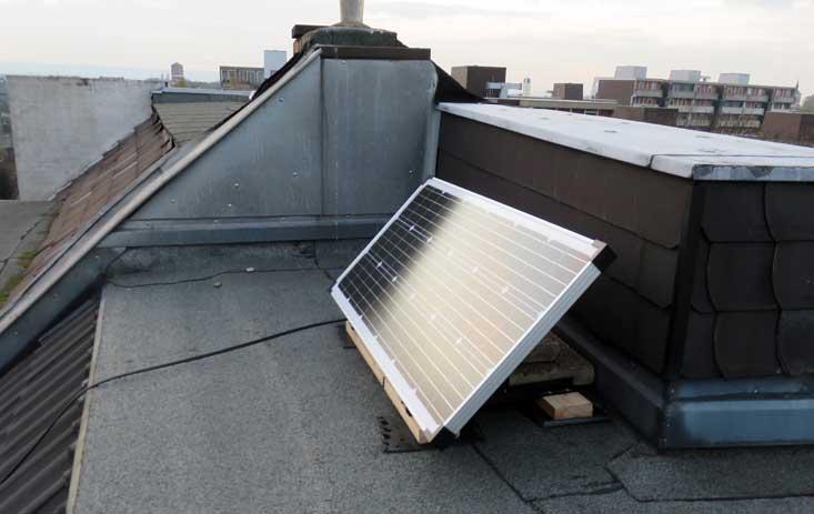 Aufbau Solarpanel 100W