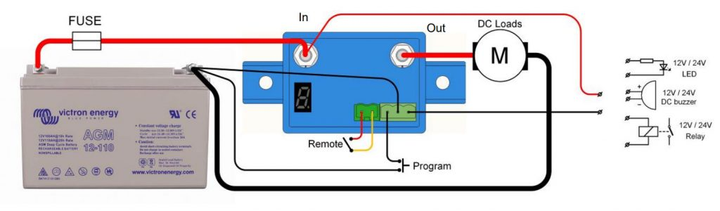 Battery Protect BP 65 - Schaltplan