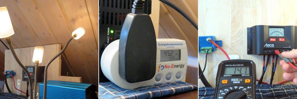 Solaranlage in Betrieb und funktionstüchtig